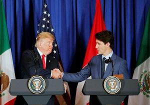 مذاکره ترامپ و ترودو درباره تعرفههای آلومینیوم و فولاد