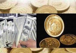 كاهش نرخ دلار و افزايش انواع سكه در بازار