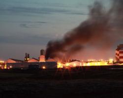 آتشسوزی در یکی از واحدهای ذوب شرکت ریوتینتو آلکان
